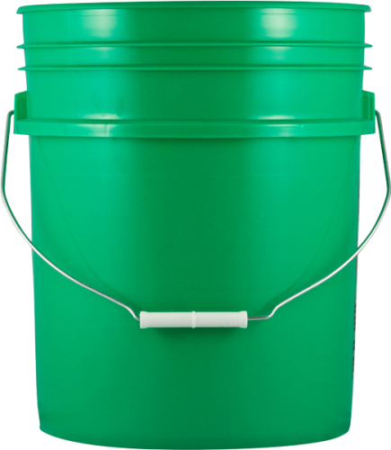 Green 5 gallon pail
